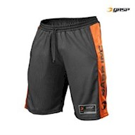 Gasp No1 Mesh Shorts Sort/Orange