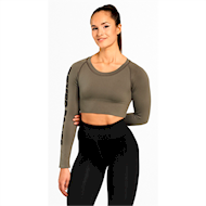 Better Bodies Bowery Cropped Longsleeve Wash Green