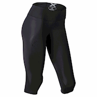 2XU Mid-Rise Compression 3/4 Tight - Black/Dotted Black logo