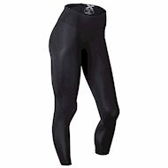2XU Mid-Rise Compression Tights - Black/Dotted Black logo