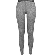 Urban Classics Active Melange Tights Charcoal White Black