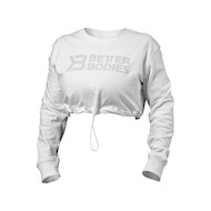 Better Bodies Madison Cropped Longsleeve White