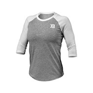 Better Bodies Womens Baseball Tee Grey Melange
