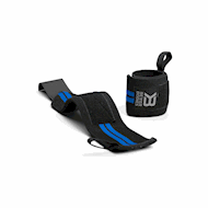Better Bodies Elastic Wrist Wraps Black/Blue