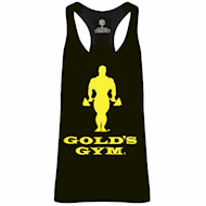 Golds Gym Muscle Joe Slogan Premium Tank Black