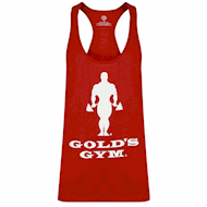 Golds Gym Muscle Joe Slogan Premium Tank Burgundy
