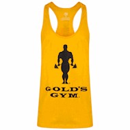 Golds Gym Muscle Joe Slogan Premium Tank Gold