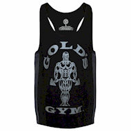 Golds Gym Muscle Joe Tonal Panel Stringer Tank Black