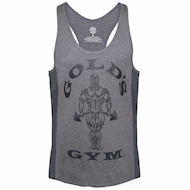 Golds Gym Muscle Joe Tonal Panel Stringer Tank Grey