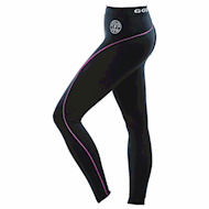 Golds Gym Ladies Long Tights Pants - Black/Pink