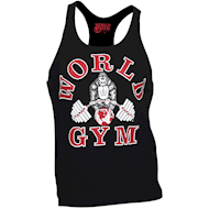 World Gym Classic Stringer Tank Top Black
