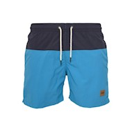 Urban Classics Block Swim Shorts Navy/Turquoise