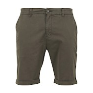Urban Classics Stretch Turnup Chino Shorts Dark Olive