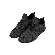 Urban Classics Knitted Light Runner Shoe Black/Grey/Black